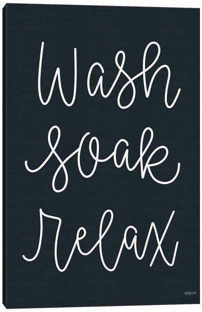 Wash, Soak, Relax Canvas Art Print