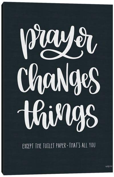 Bathroom Prayer Changes Things I Canvas Art Print
