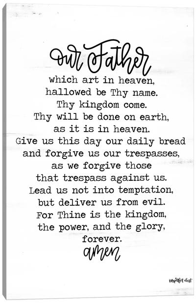 Lord's Prayer Canvas Art Print