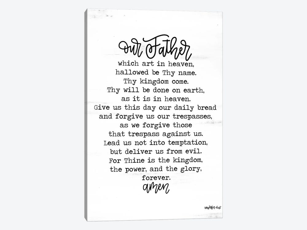 Lord's Prayer by Imperfect Dust 1-piece Art Print