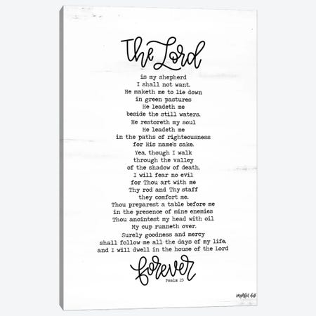 Psalm 23 Canvas Print #IMD31} by Imperfect Dust Canvas Wall Art