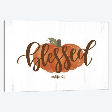 Blessed Pumpkin Canvas Print #IMD38} by Imperfect Dust Canvas Wall Art