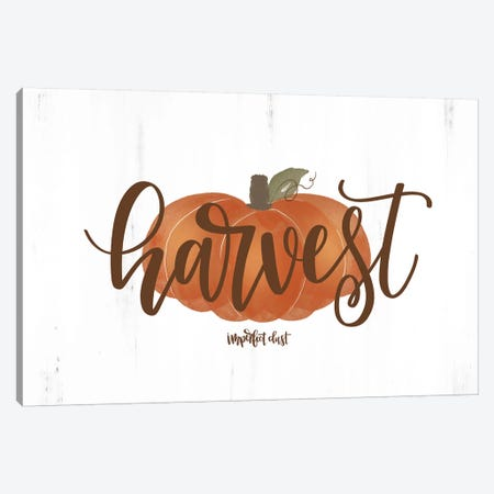 Harvest Pumpkin Canvas Print #IMD39} by Imperfect Dust Canvas Wall Art