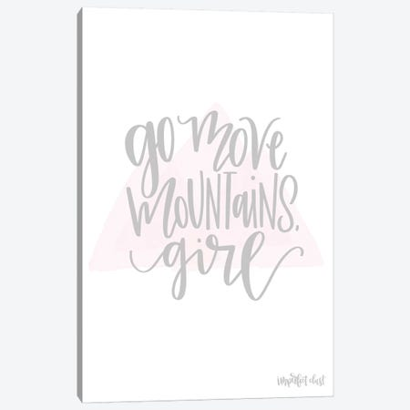 Go Move Mountains Girl Canvas Print #IMD3} by Imperfect Dust Canvas Art