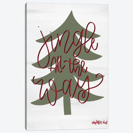 Jingle All the Way Canvas Print #IMD59} by Imperfect Dust Canvas Wall Art