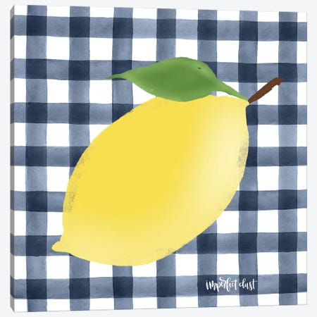 Lemon Canvas Print #IMD63} by Imperfect Dust Canvas Art Print