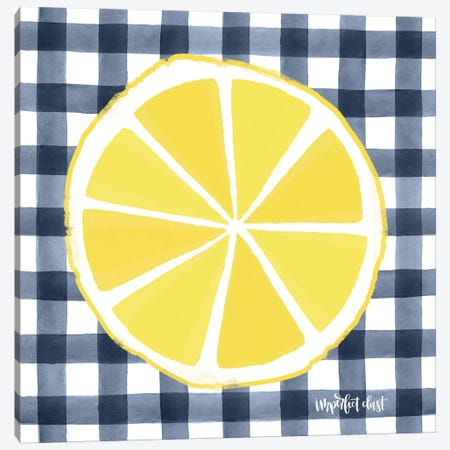 Lemon Slice Canvas Print #IMD64} by Imperfect Dust Canvas Wall Art