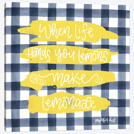 Make Lemonade Canvas Print #IMD67} by Imperfect Dust Canvas Art