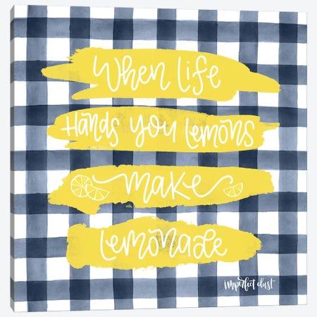 Make Lemonade Canvas Print #IMD67} by Imperfect Dust Canvas Art