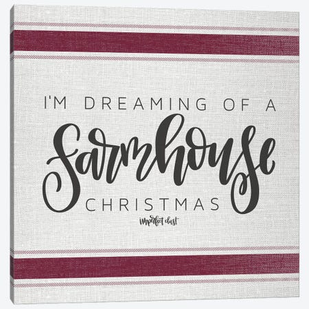 Farmhouse Christmas   Canvas Print #IMD80} by Imperfect Dust Art Print