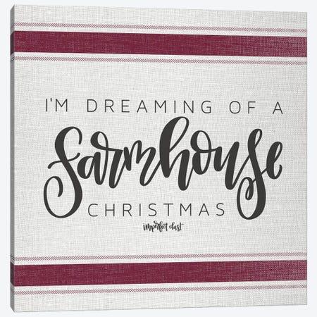 Farmhouse Christmas   Canvas Print #IMD80} by Imperfect Dust Art Print
