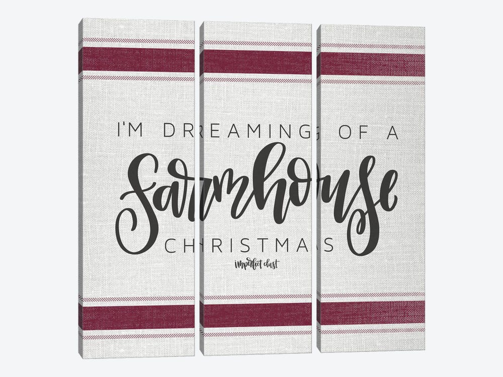 Farmhouse Christmas   by Imperfect Dust 3-piece Canvas Print