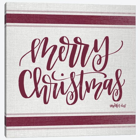Merry Christmas   Canvas Print #IMD81} by Imperfect Dust Canvas Art Print