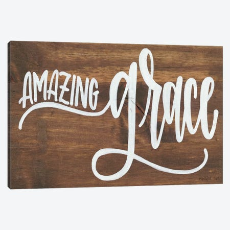Amazing Grace 3-Piece Canvas #IMD83} by Imperfect Dust Canvas Print