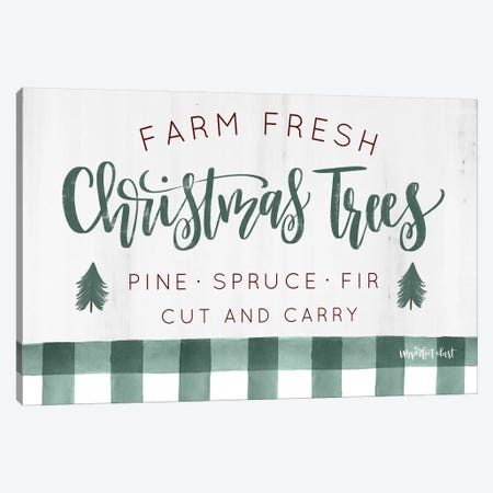 Farm Fresh Christmas Trees  Canvas Print #IMD91} by Imperfect Dust Canvas Artwork