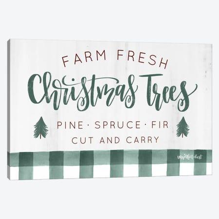 Farm Fresh Christmas Trees  Canvas Print #IMD91} by Imperfect Dust Canvas Artwork