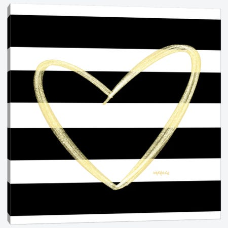 Glam Heart Canvas Print #IMD93} by Imperfect Dust Canvas Wall Art