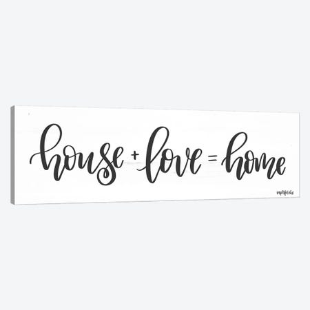 House + Love = Home Canvas Print #IMD95} by Imperfect Dust Art Print