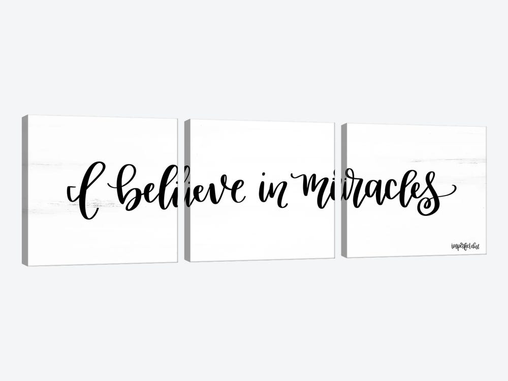 I Believe in Miracles by Imperfect Dust 3-piece Canvas Art