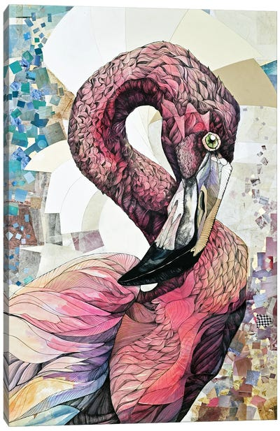 Being Flamingo: The Big Pink Canvas Art Print