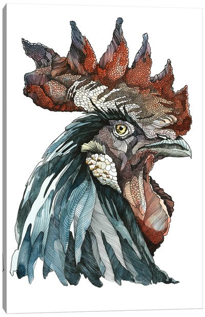 Black Rooster Canvas Art Print