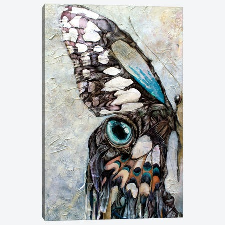 I Am The Half Butterfly Canvas Print #IMN8} by Irene Meniconi Canvas Artwork