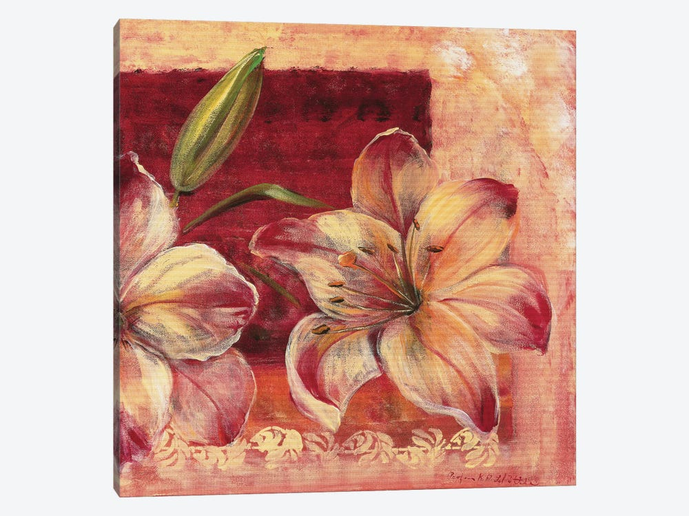 Classic Flower LV 1-piece Canvas Art Print