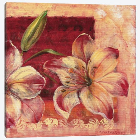 Classic Flower LV Canvas Print #INA13} by Katharina Schöttler Canvas Print