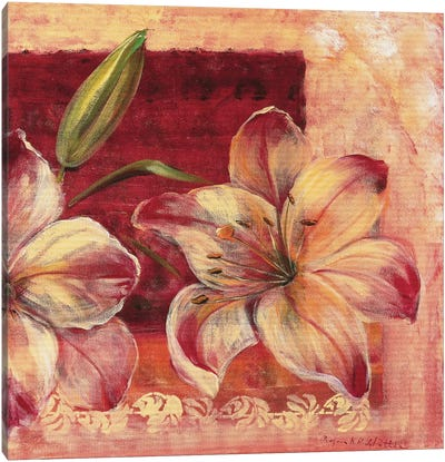 Classic Flower LV Canvas Art Print
