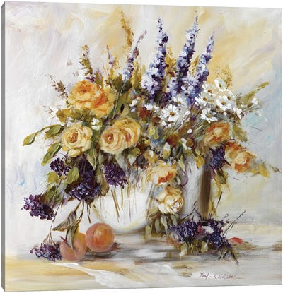 Classico Flowers I Canvas Art Print