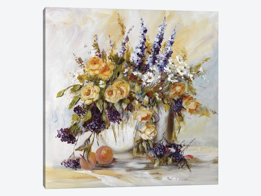 Classico Flowers I by Katharina Schöttler 1-piece Canvas Artwork