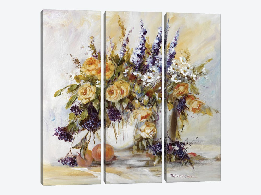 Classico Flowers I by Katharina Schöttler 3-piece Canvas Wall Art