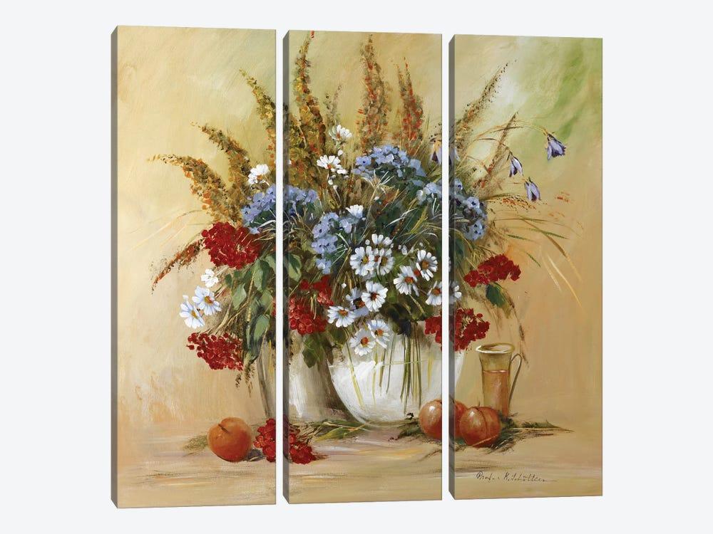 Classico Flowers II by Katharina Schöttler 3-piece Canvas Art Print