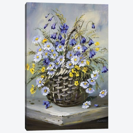 Colourful Basket Canvas Print #INA16} by Katharina Schöttler Canvas Wall Art