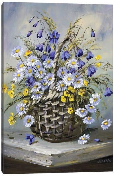 Colourful Basket Canvas Art Print