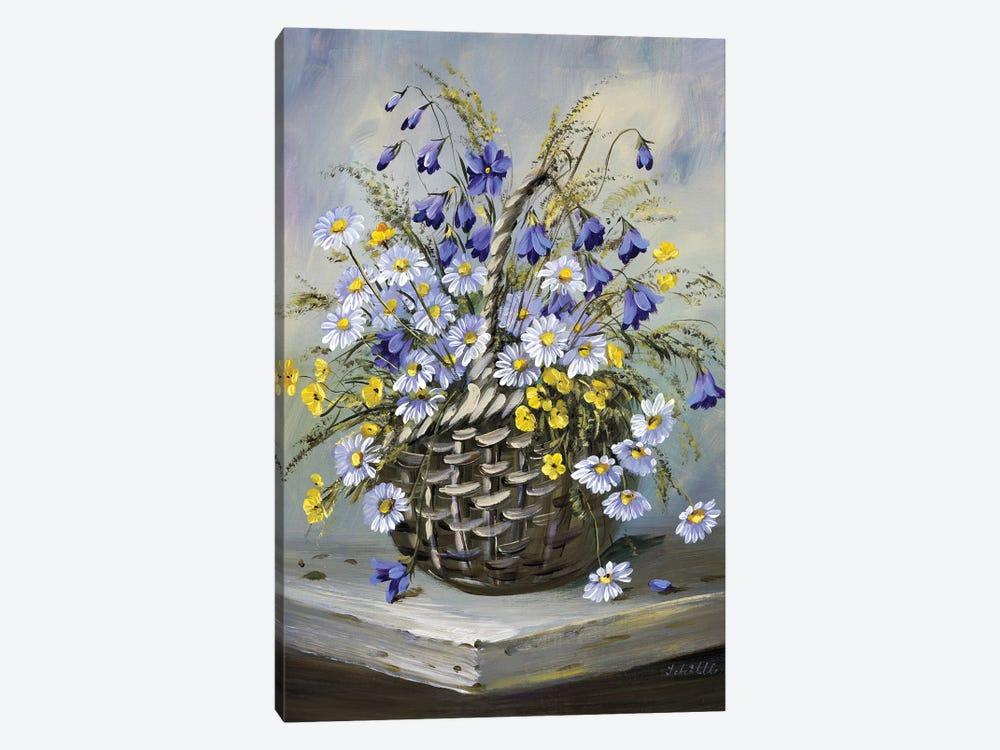 Colourful Basket by Katharina Schöttler 1-piece Canvas Artwork