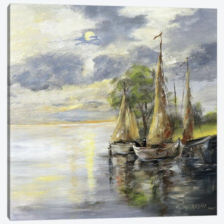 Dancing Boats Canvas Print #INA17} by Katharina Schöttler Canvas Artwork