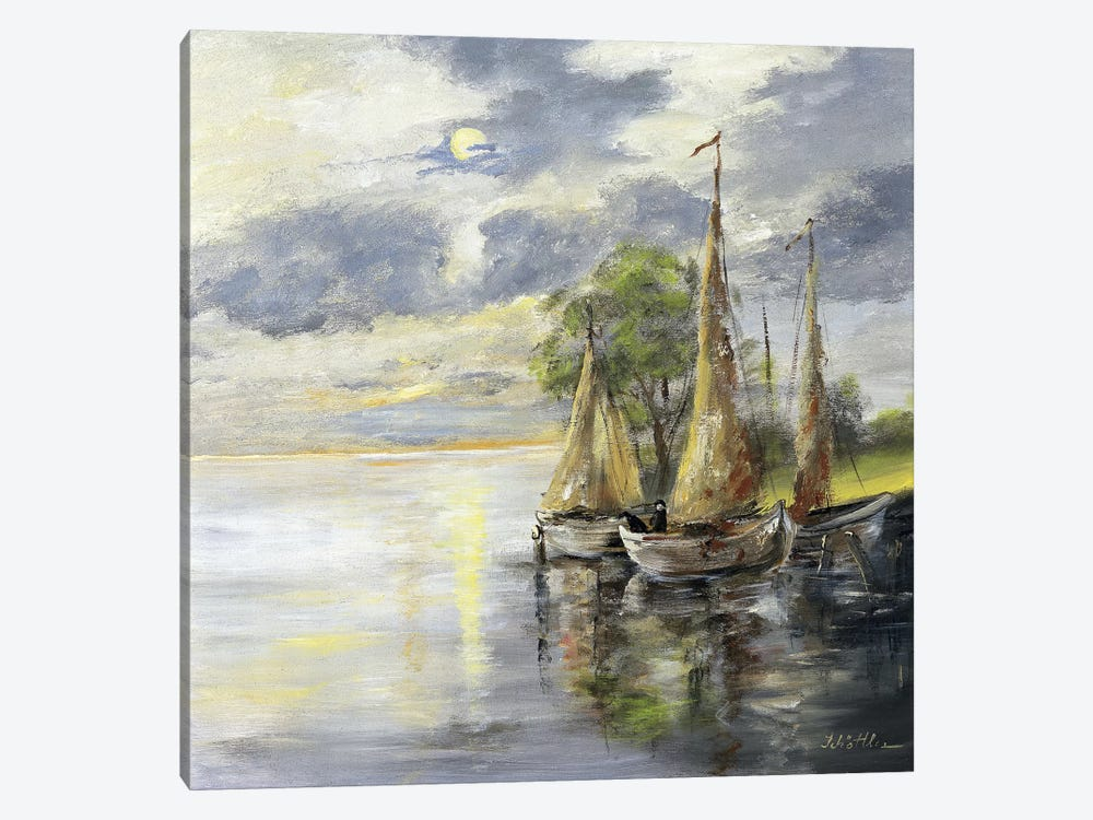 Dancing Boats by Katharina Schöttler 1-piece Canvas Print
