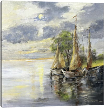 Dancing Boats Canvas Art Print