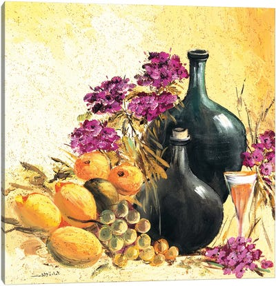 Lemon Still Life Canvas Art Print