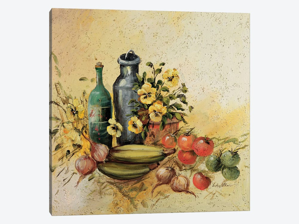 Mediterranean Comp. I by Katharina Schöttler 1-piece Canvas Art Print