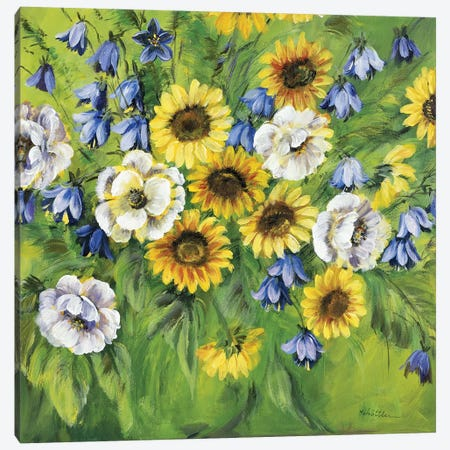 Mixed Sunflower Bouquet Canvas Print #INA33} by Katharina Schöttler Art Print