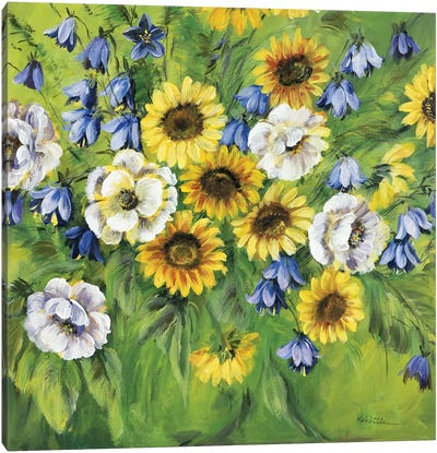 Mixed Sunflower Bouquet Canvas Art Print