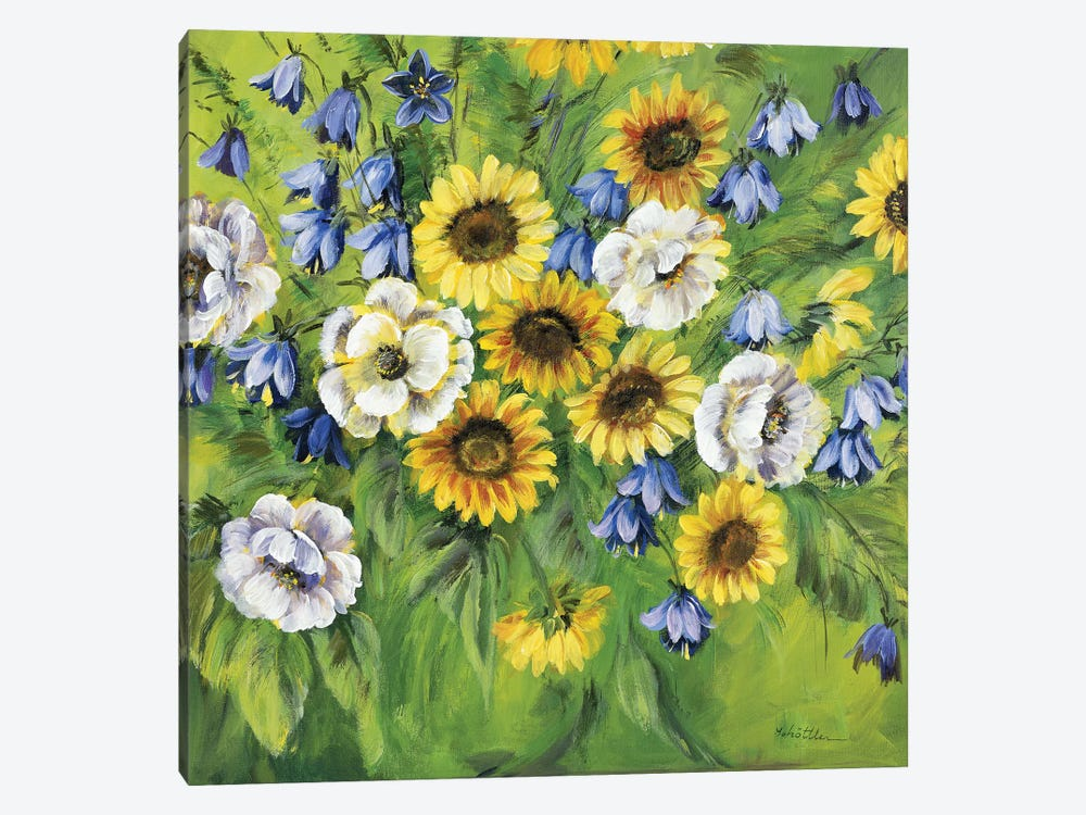 Mixed Sunflower Bouquet by Katharina Schöttler 1-piece Canvas Art Print