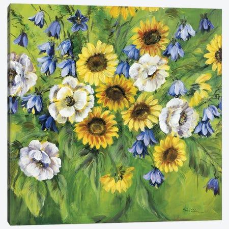 Mixed Sunflower Bouquet Canvas Print #INA33} by Katharina Schöttler Art Print