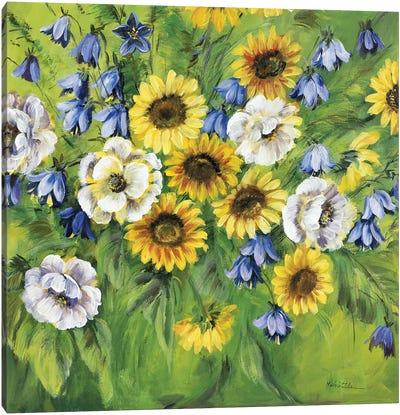 Mixed Sunflower Bouquet Canvas Art Print
