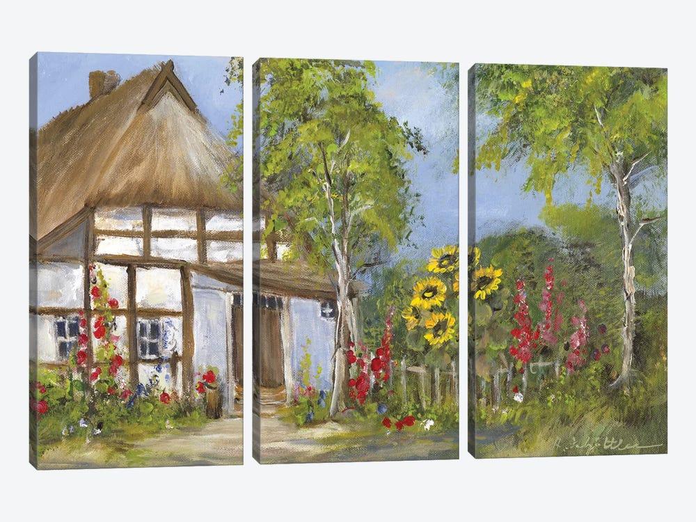 Old Farmhouse I by Katharina Schöttler 3-piece Canvas Art