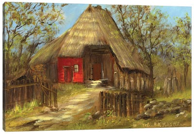 Old Farmhouse II Canvas Art Print