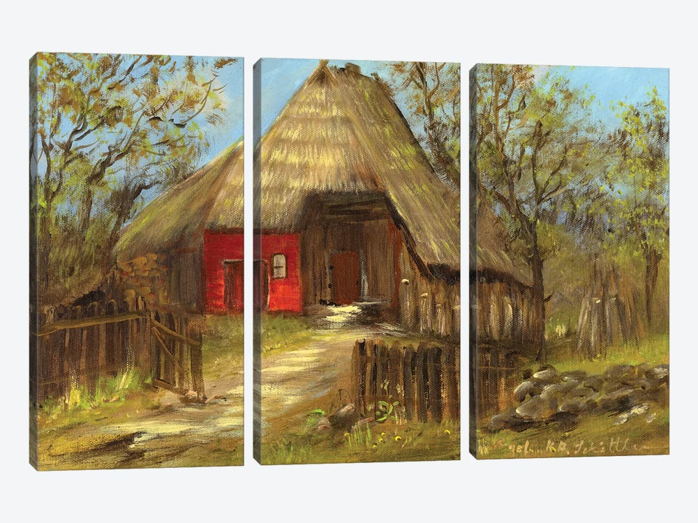 Old Farmhouse II by Katharina Schöttler 3-piece Canvas Art Print