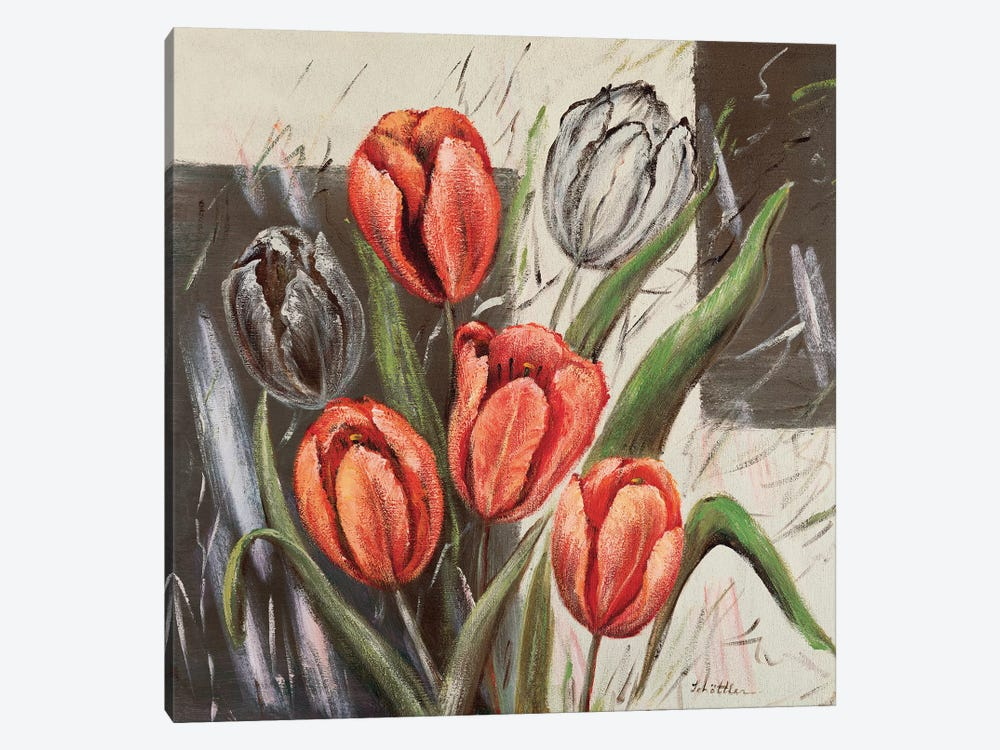 Orange Tulips 1-piece Canvas Wall Art